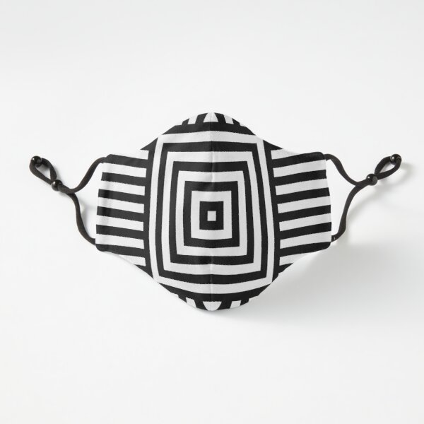 Fitted Masks, Symmetrical Striped Squares Fitted 3-Layer