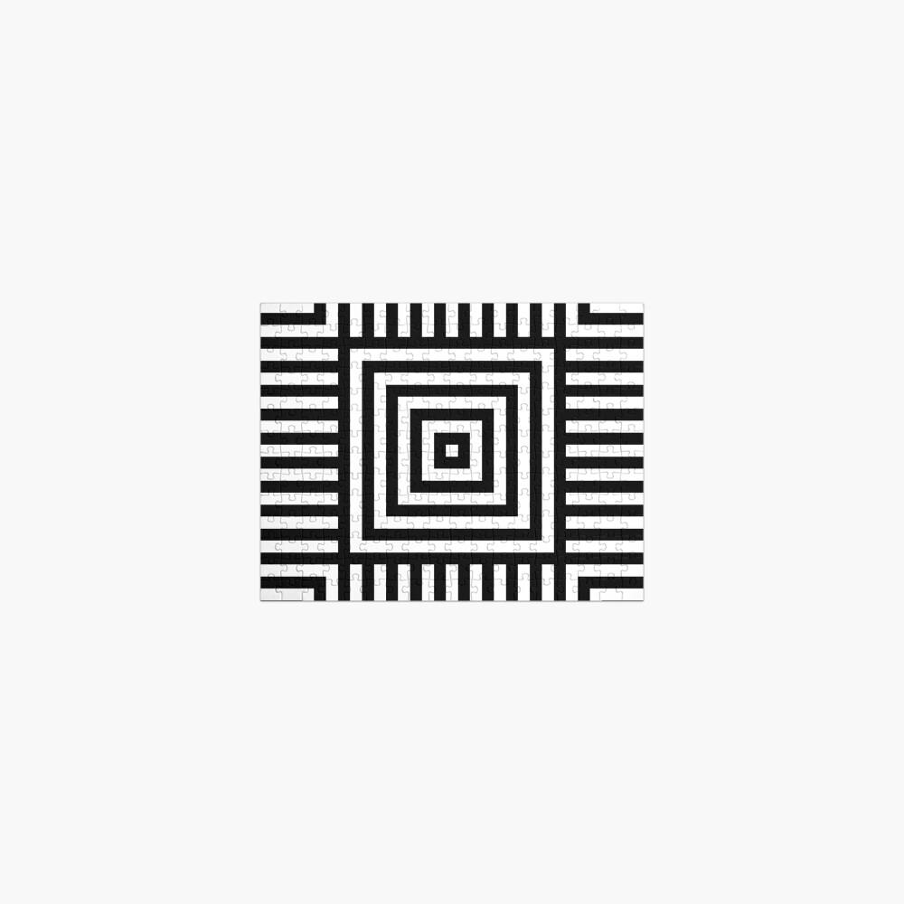 Symmetrical Striped Squares Jigsaw Puzzle