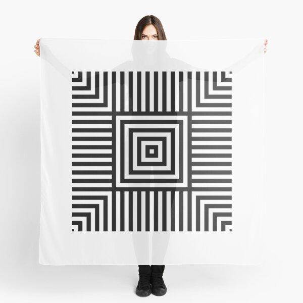 Symmetrical Striped Squares Scarf