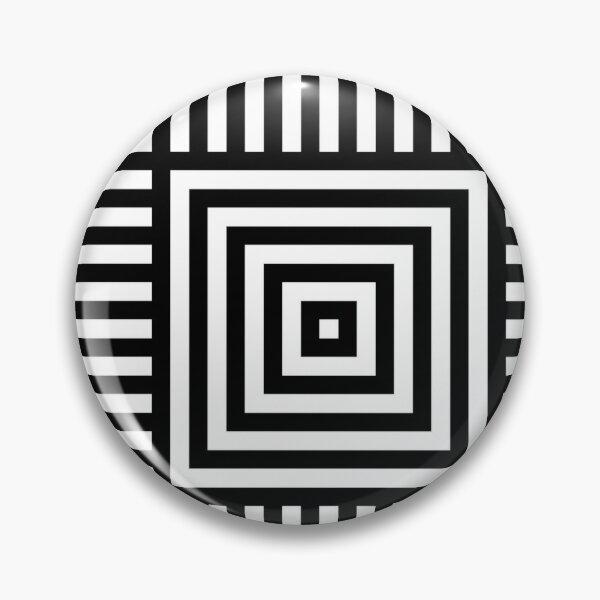 Symmetrical Striped Squares Pin