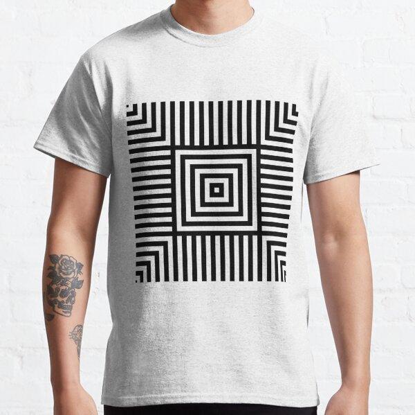 Symmetrical Striped Squares Classic T-Shirt