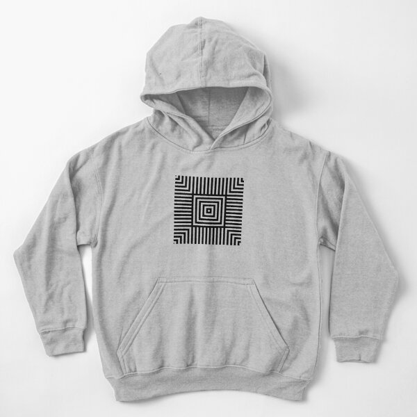 Symmetrical Striped Squares Kids Pullover Hoodie