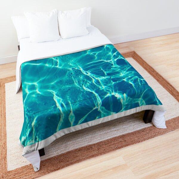 Clear Blue Ocean  Comforter