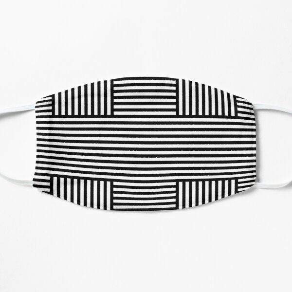 Symmetrical Striped Squares Flat Mask