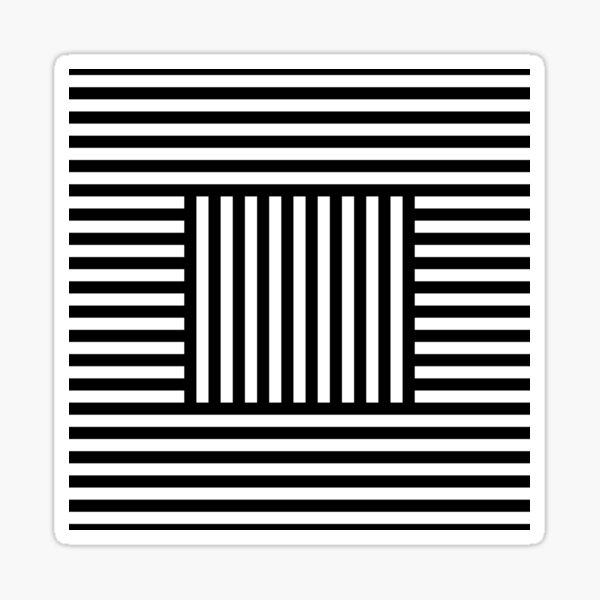 Symmetrical Striped Squares Sticker