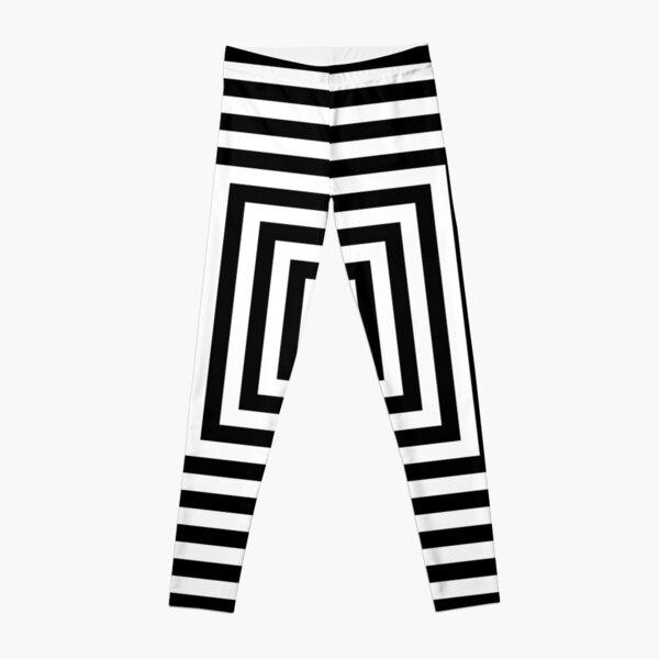 Symmetrical Striped Squares Leggings