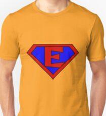 Hero, Heroine, Superhero, Initials,  E Unisex T-Shirt