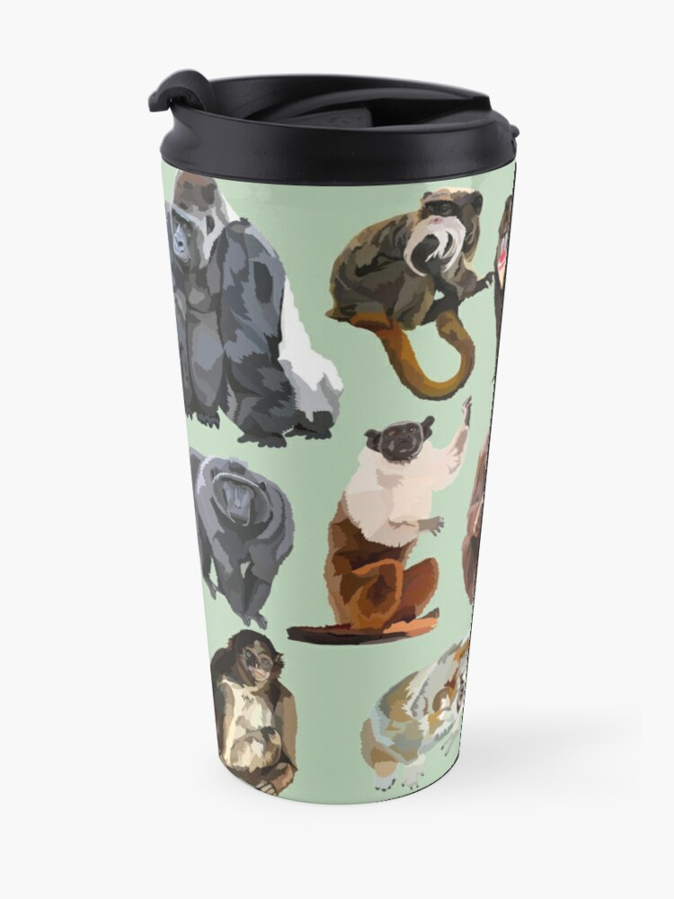 Alternate view of Mixed primate  Travel Mug