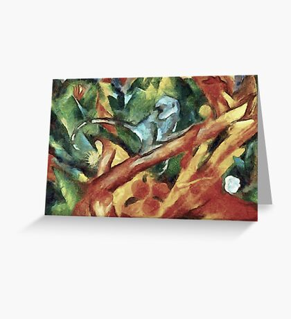 Monkey After Franz Marc, 1912 Greeting Card