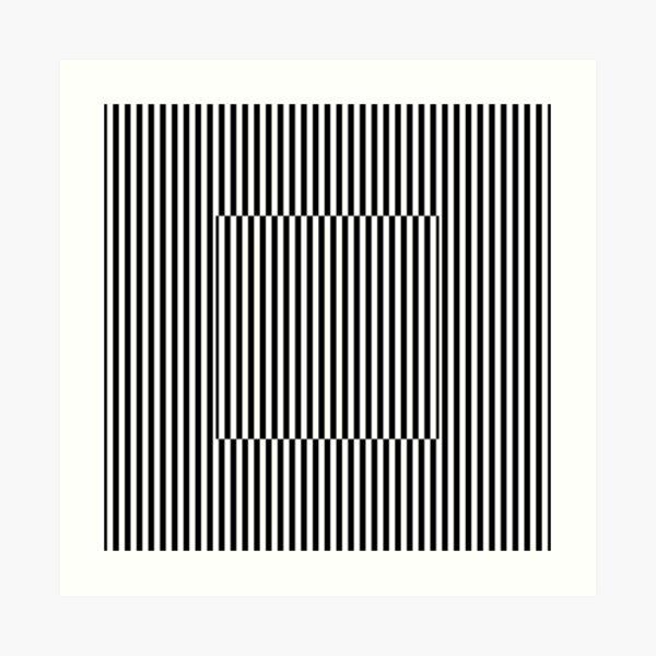 Vertical Symmetrical Strips Art Print