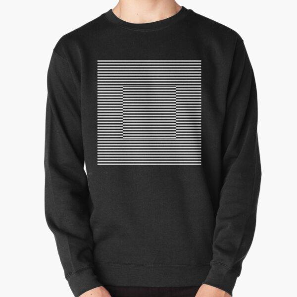 Horizontal Symmetrical Strips Pullover Sweatshirt