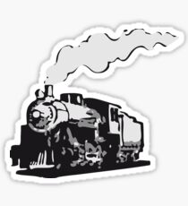 dampflok railroad locomotive romance Sticker