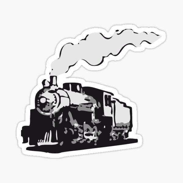 dampflok railroad locomotive romance Sticker
