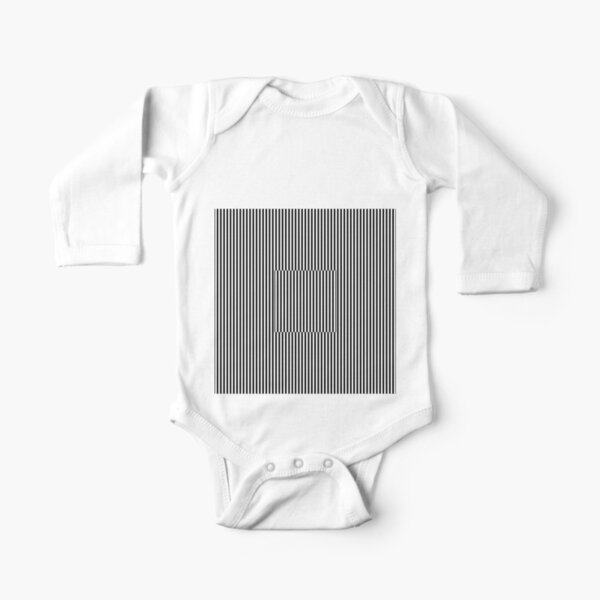 Vertical Symmetrical Strips Long Sleeve Baby One-Piece