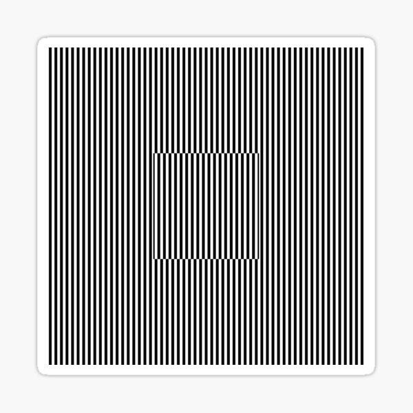Vertical Symmetrical Strips Sticker