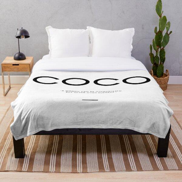 COCO ELEGANT QUOTE Throw Blanket