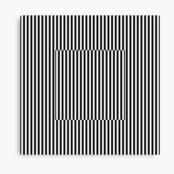 Vertical Symmetrical Strips Canvas Print