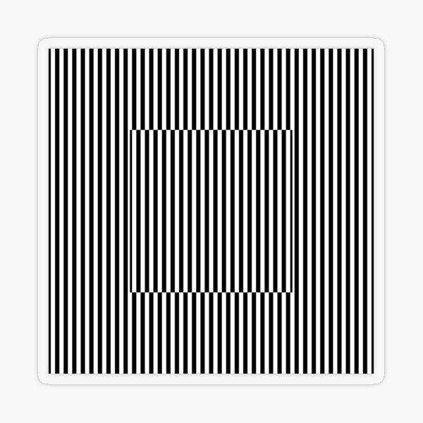 Vertical Symmetrical Strips Transparent Sticker