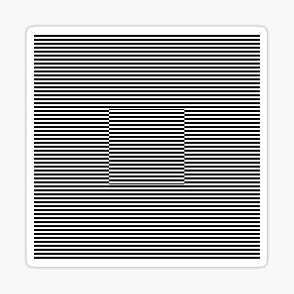Horizontal Symmetrical Strips Sticker