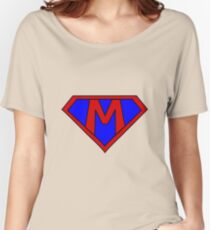 Hero, Heroine, Superhero, Initials,  M Women's Relaxed Fit T-Shirt