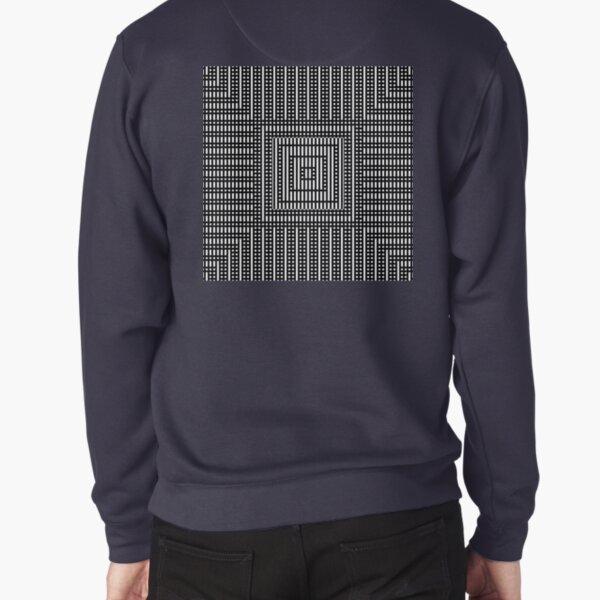 Symmetrical Strips Pullover Sweatshirt