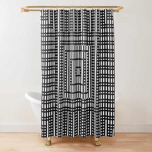 Symmetrical Strips Shower Curtain