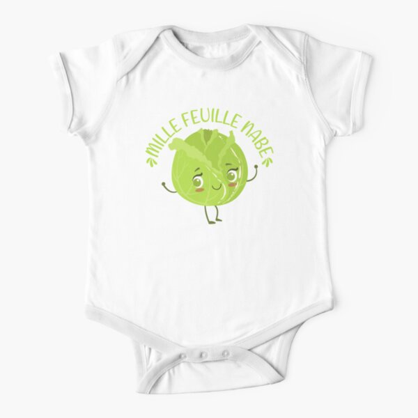 mille feuille nabe Kawaii cabbage Short Sleeve Baby One-Piece