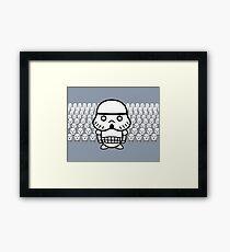 Stormtrooper Cute Framed Print