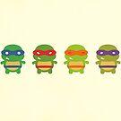 Teenage Mutant Ninja Kawaii Turtles by geraldbriones