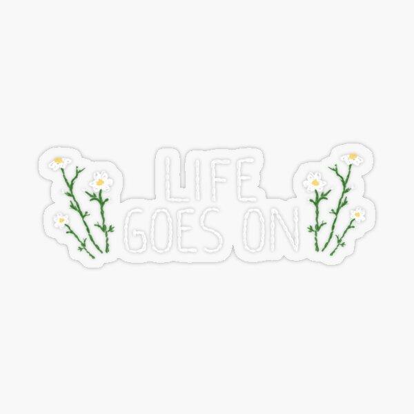 BTS 'LIFE GOES ON' ♡ (Efecto de bordado) Pegatina transparente
