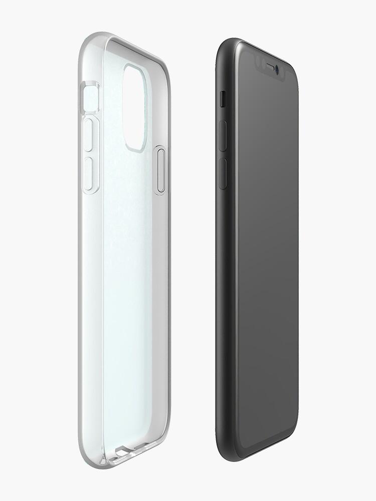 Vista alternativa de Funda y vinilo para iPhone Bloque de color Feux brillo ombre teal femenino