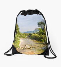 springtime river Drawstring Bag