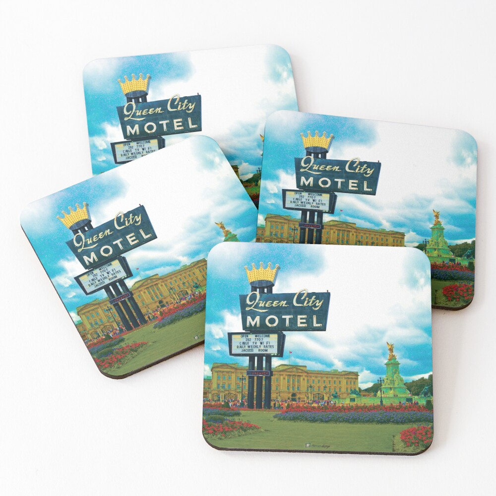 Queen City Palace Motel Coasters (Set of 4)