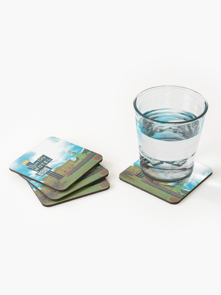Alternate view of Queen City Palace Motel Coasters (Set of 4)