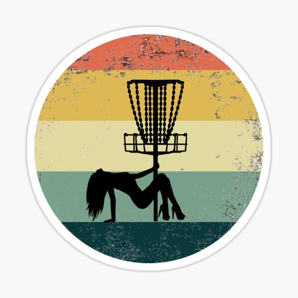 Funny Disc Golf, Pole dancing, for disc golf lover and pole dancing lover Sticker