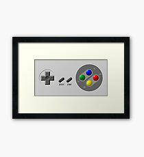 SNES Buttons Framed Print