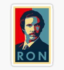 Ron Burgundy (Obama Style) Sticker