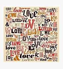Vintage Love Background Photographic Print