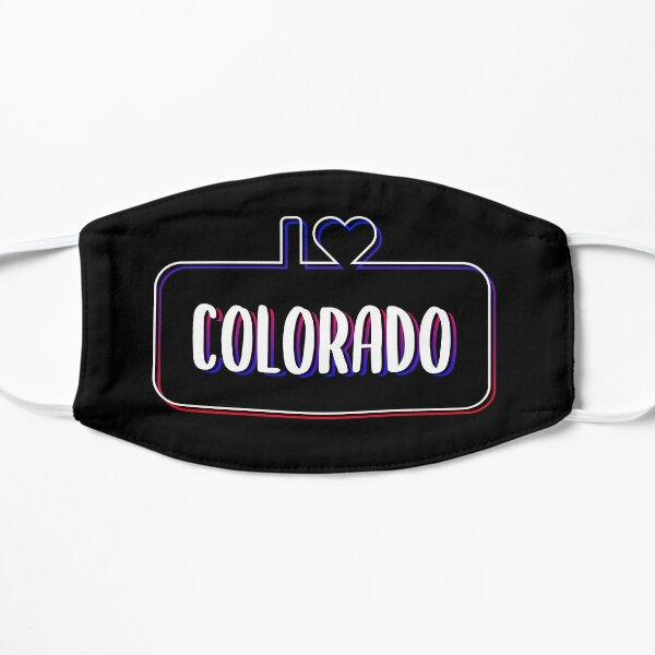 I Love Colorado Colorful Text Flat Mask