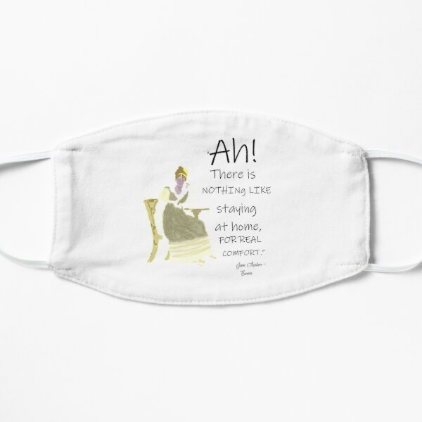 Jane Austen Home Comforts Quote Mask