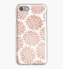 Modern rose gold geometric floral abstract iPhone Case/Skin