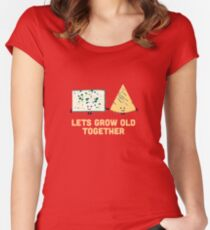 Character Building - Smelly cheese Women's Fitted Scoop T-Shirt