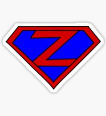 Hero, Heroine, Superhero, Initials,  Z Sticker