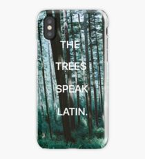 The Trees Speak Latin - The Raven Cycle iPhone Case/Skin