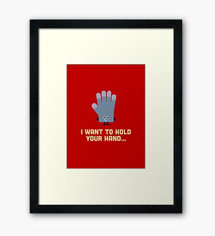 Character Building - Glove Framed Print