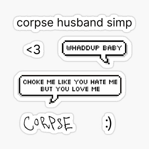 Leichen-Ehemann-Set Sticker