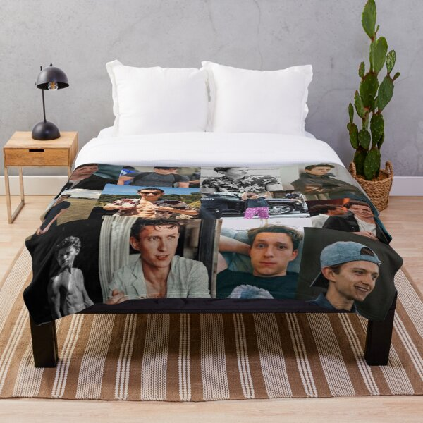 Tom Holland collage Throw Blanket