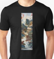 Qiu Ying Fishing under Chinese Sweet Gums Unisex T-Shirt