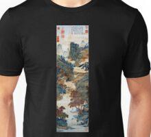 Qiu Ying Fishing under Chinese Sweet Gums Unisex T-Shirt