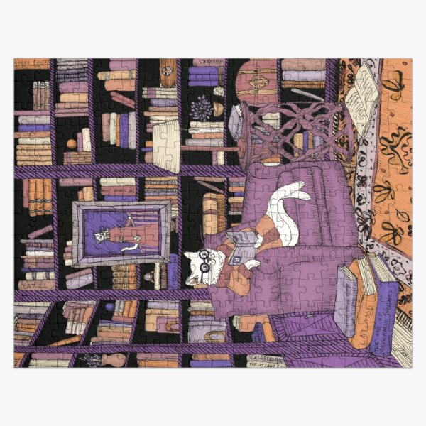 The Cat's Library Jigsaw Puzzle